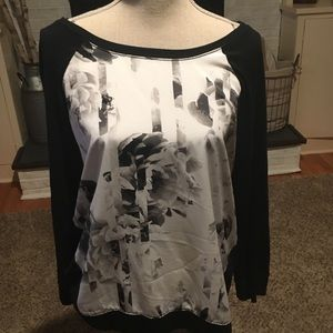 Banana Republic mixed media shirt